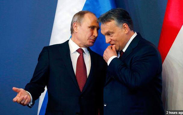 Putin and Orban Budapest2