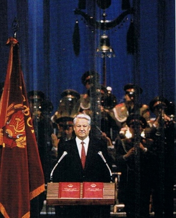 Boris Yeltsin, the elected President of the Russian Republic, 1991.