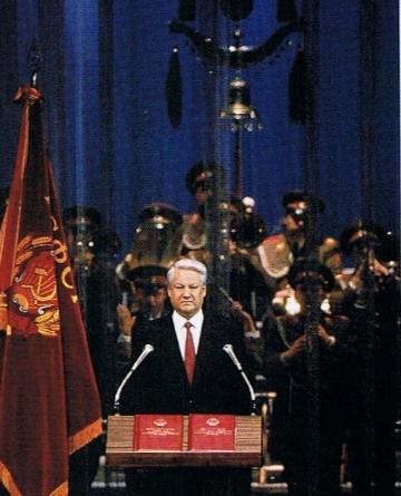 Boris Yeltsin, the elected President of the Russian Republic, 1991.