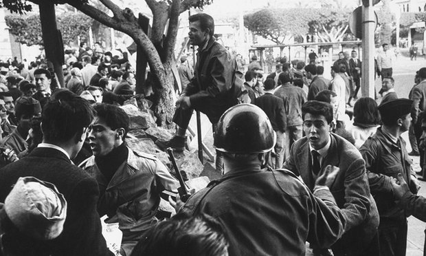 French armed forces suppress an uprising in colonial-era Algeria. Photograph: Loomis Dean/Time & Life Pictures/Getty Image