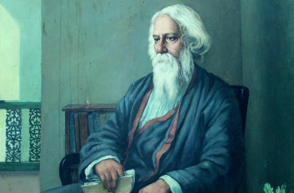Portrait of Indian poet and musician Rabindranath Tagore. Cherishsantosh/Wikimedia Commons, CC BY-SA