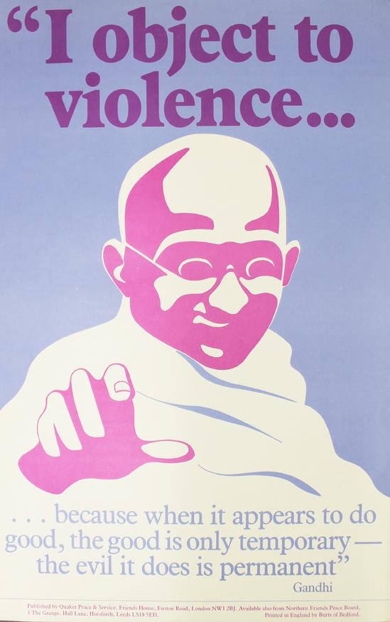 LSF QPS I object to violence Gandhi LR