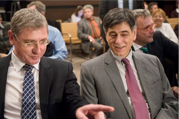 Ferenc Gyurcsány and M. André Goodfriend at the Conference on Hungary in Isolation and the Global World